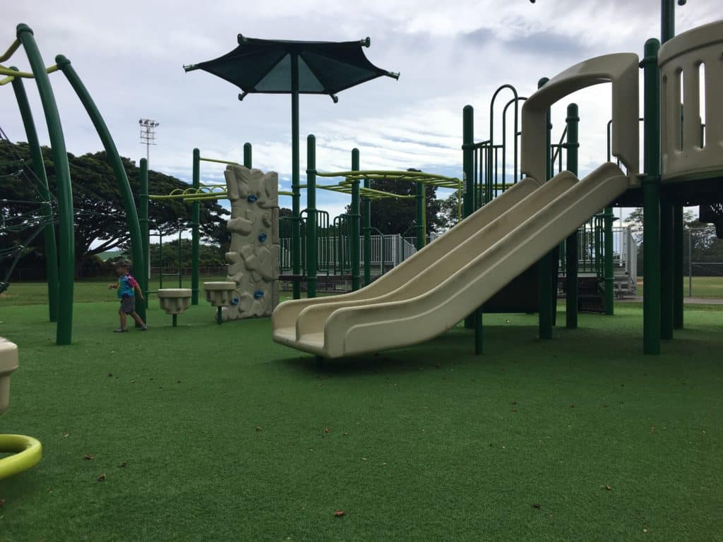 a childrens park with astroturf