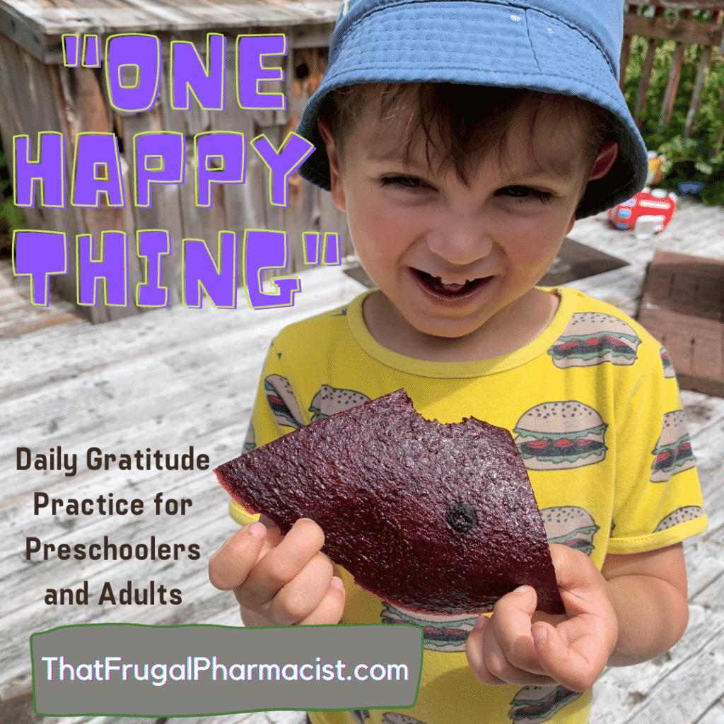 Child eating fruit leather