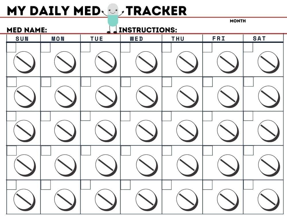 medication calendar